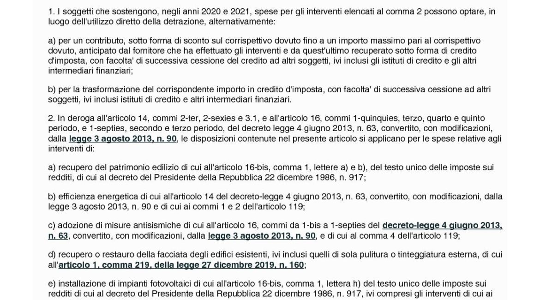 Articolo 121 Decreto Rilancio